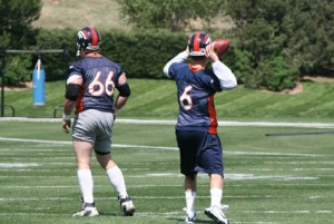 Jay Cutler and Tom Nalen