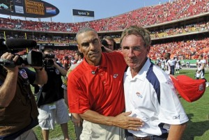 Herm Edwards and Mike Shanahan (Reuters)