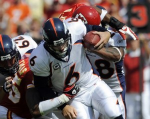 Jay Cutler Sack vs. Chiefs (Reuters)