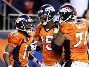 The Broncos have a lot to celebrate with their first division title in three years within sight.  (Reuters photo)