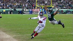 Expect to see Brian Dawkins' flying tackle.