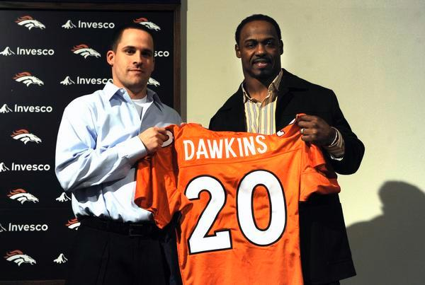 Denver coach Josh McDaniels and Brian Dawkins