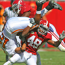 #49 Rashad Johnson Upends and Opposing Player