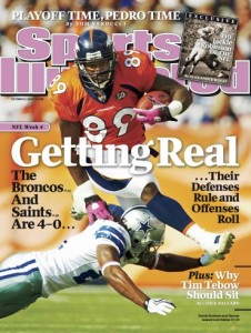 The 2009 Denver Broncos land on the cover of Sports Illustrated,