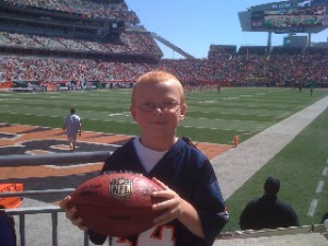 Josh here is one lucky kid, and probably Brandon Stokley's biggest fan.
