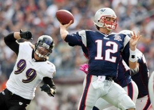 Tom Brady is the ever-dangerous equalizer. (Photo by Elsa/Getty Images)