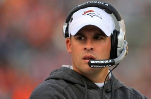 Josh McDaniels and the Broncos have lost 14 of their last 18 after starting 6-0 in 2009.  (Doug Pensinger/Getty Images)