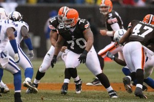 Cleveland Browns C Rex Hadnot visited with the Denver Broncos Friday
