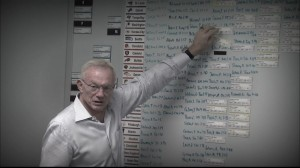 Jerry Jones moves a player on the Cowboys draft board.
