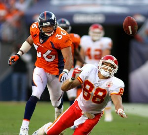 Denver Broncos safety Josh Barrett