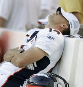 Brandon Stokley is amongst three surprise cuts for the Broncos. (REUTERS/Andrew Cameron)