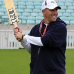 Josh McDaniels playing cricket in London (Chris McGrath/Getty Images)