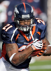 Former Denver Broncos running back Tatum Bell in 2008 (Doug Pennsinger/Getty Images)