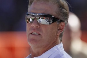 As Vice President of Football Operations, John Elway will head up the Denver Broncos' head coaching search. (AP Photo/Barry Gutierrez)