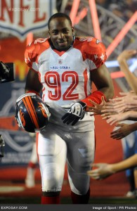 Dumervil will be making his second Pro Bowl appearance.  (Via Exposay.com -- Image of Sport / PR Photos)