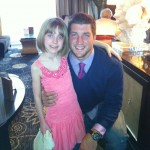 Tim Tebow with Presli Collins