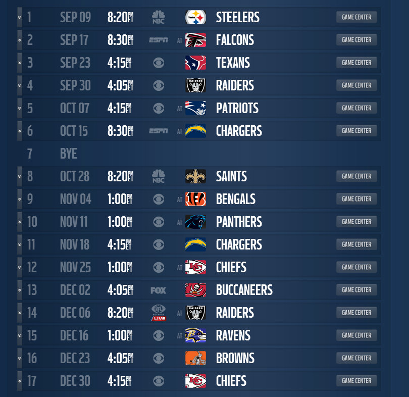 Denver Broncos Schedule Printable Denver Broncos 2012 Schedule