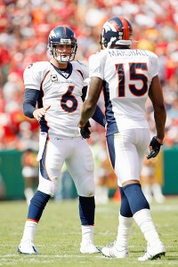 Cutler and Marshall will return to Denver this preseason.  (Photo courtesy of Jamie Squire/Getty Images)
