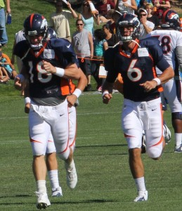 Peyton Manning and Brock Osweiler