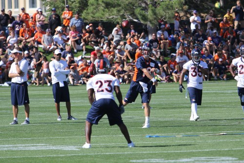Manning to McGahee training camp 2012