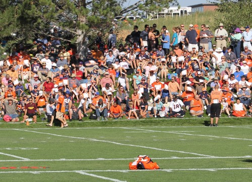 Broncos fans at training camp