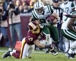 Jim Leonhard with the Jets