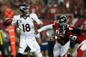 Peyton Manning Broncos at Falcons