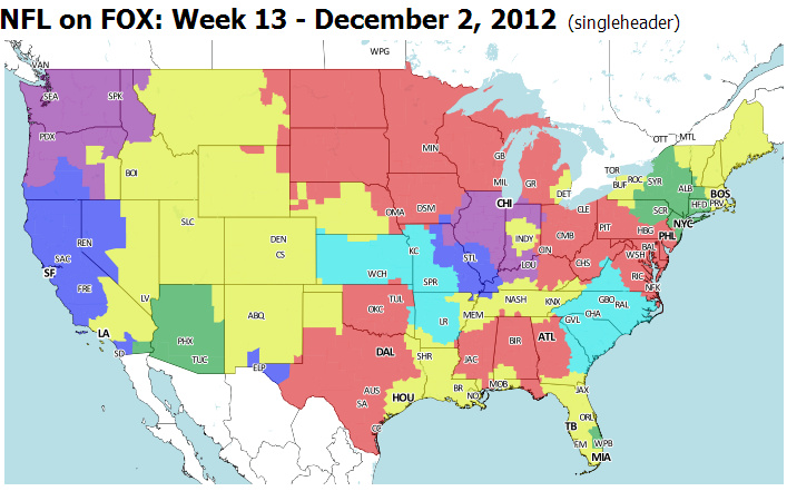 Week 13 TV Broadcast Map: Broncos vs. Bucs - BroncoTalk