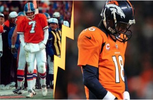 Elway and Manning in defeat.
