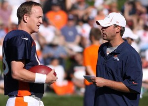 Adam Gase and Peyton Manning